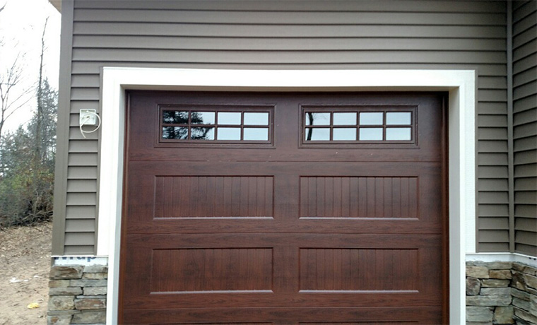 ... Recessed Carriage Panel Door Walnut With Windows ...
