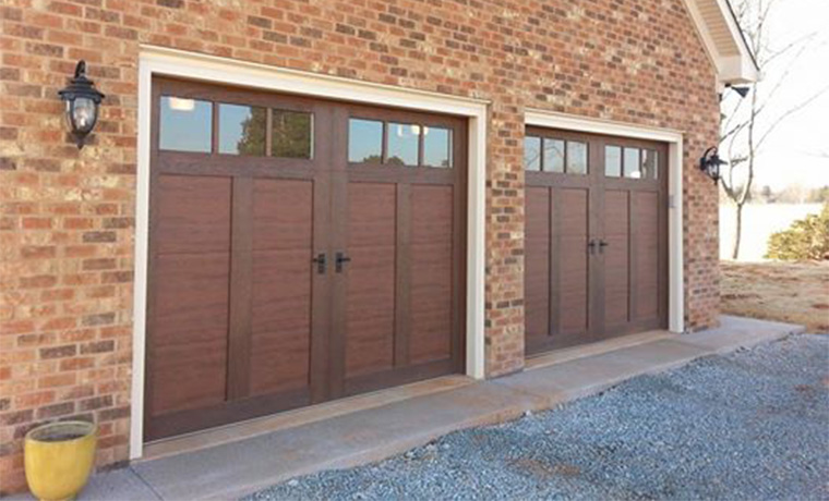 Garage door overlay overlay carriage house st cloud mn for Composite wood garage doors
