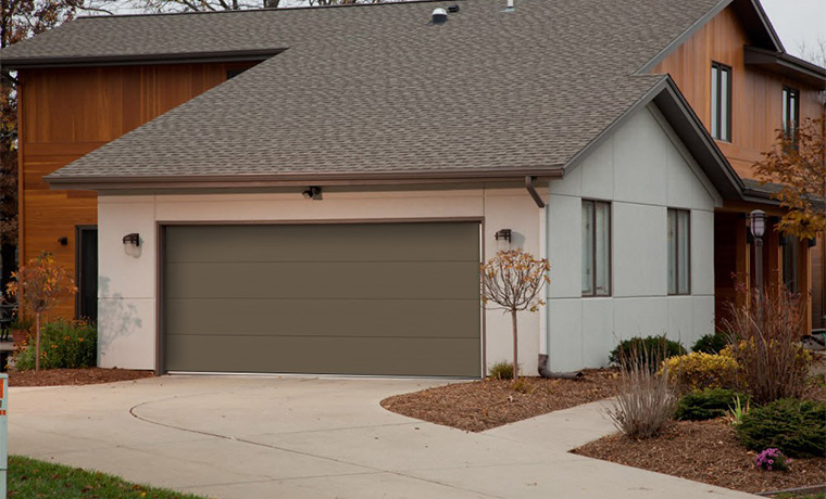 Flush panel garage doors with windows st cloud mn adw for Flush panel wood garage door