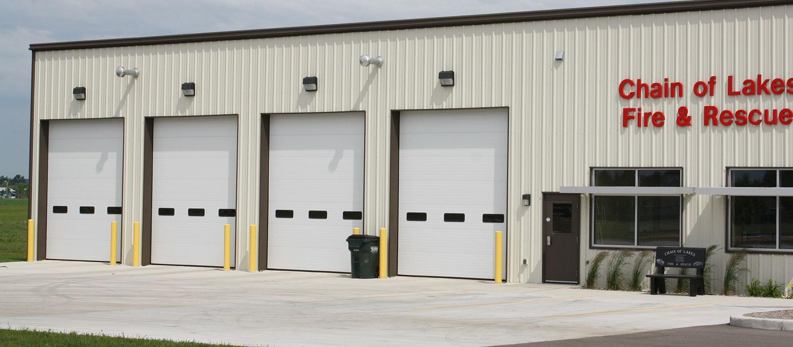 V Groove Insulated Commercial Garage Doors St Cloud Mn Adw