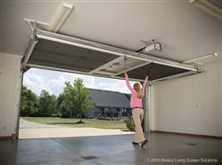 Retractable roll up garage door screens st cloud mn adw garage screen door installation step 1 solutioingenieria Image collections