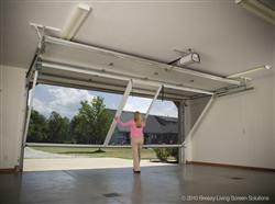 Retractable roll up garage door screens st cloud mn adw garage screen door installation step 2 solutioingenieria Image collections